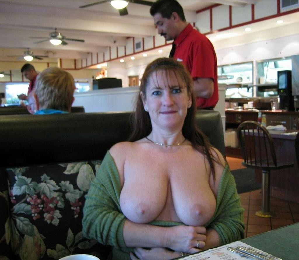 Public out tit free in hanging moms